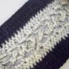 Écharpe noir & sienne