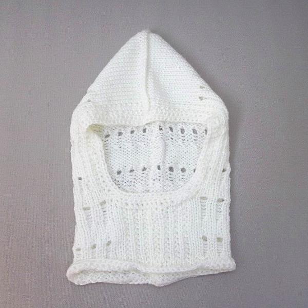 Cagoule enfant en laine écrue