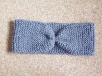 bandeau headband gris en laine