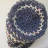 bonnet bleu en laine multicolore
