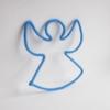 Ange bleu en tricotin