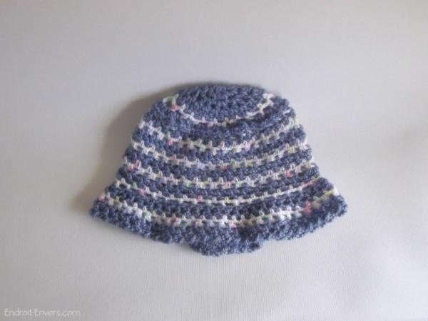 bonnet bebe laine rayee