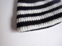 bonnet bebe raye noir et blanc