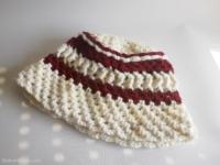 bonnet raye en laine fait main