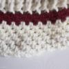 bonnet rouge ecru en laine