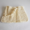 mini bourse crochet ecru