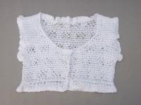 caraco blanc crochet
