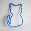 chat en tricotin bleu