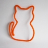 chat en tricotin orange