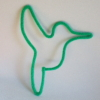 colibri en tricotin vert