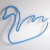cygne tricotin bleu