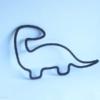 dinosaure noir en tricotin