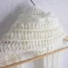 echarpe ecrue laine fait main