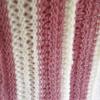 écharpe rose écru fait main