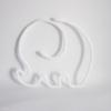 elephant tricotin blanc