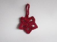 etoile de noel crochet rouge