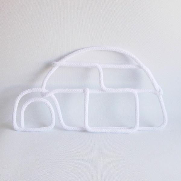 igloo en tricotin blanc