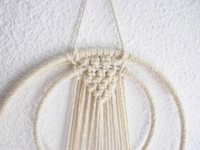 suspension macramé double cercle