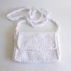 mini sac crochet blanc