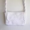 mini sac crochet tricotin blanc