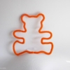 ourson tricotin orange