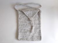 pochette grise laine