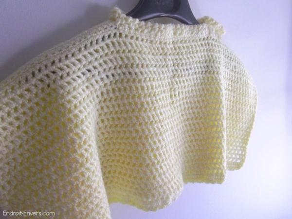 poncho bebe laine jaune