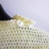 poncho bebe laine jaune clair