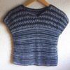 pull laine bleu foncé rayé