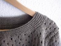 pull femme laine marron