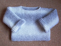 pull bébé gris blanc point mousse