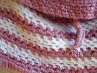 Sac en laine rose et blanc