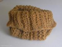 snood enfant laine marron