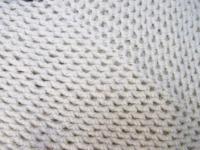 taie pour coussin écru en crochet
